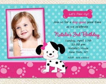 Puppy Birthday Invitations
