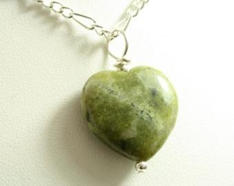 Connemara Marble Heart Chain
