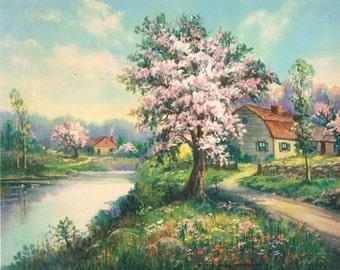 A Petaled Countryside Calendar Art Print