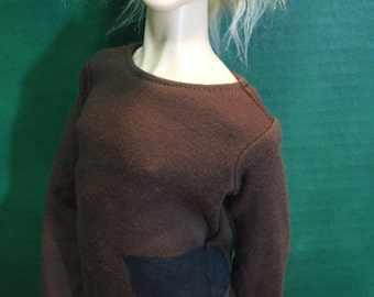 Brown Spade 60cm Side-Painted SD13 BJD Shirt