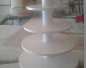 5 Tier Round Thicker Tiers Custom Made Cupcake Stand.  Holds up to 80 Cupcakes