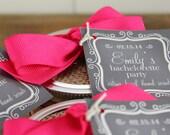 24 - Bridal Shower Chalkboard Tags - 2 X 2 Inch - Wedding Favor Tags, Baby Shower Tags, Custom Tags, Gift Tags