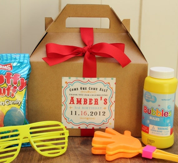 Set Of 6 Birthday Party Goodie Box Carnival By Thefavorbox