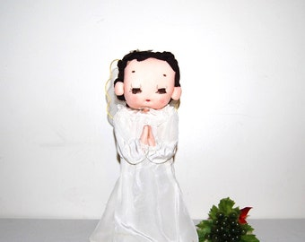 Vintage Angel with White Gown