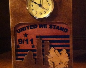 9/11 United We Stand Mantle Clock