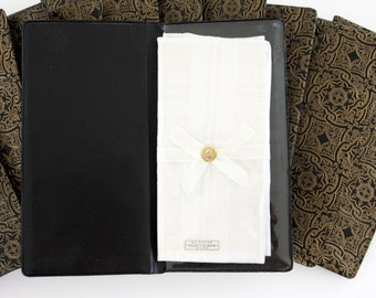An Open Wallet Handkerchiefs or Pocket Squares (Set of Two)