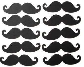 50 Black Mustache punch die cut scrapbooking embellishments - No395