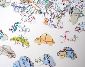 100 Mini Map Atlas Car punch die cut confetti scrapbook embellishments - No741