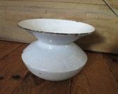 Vintage Porcelain And Cast Iron Spittoon.