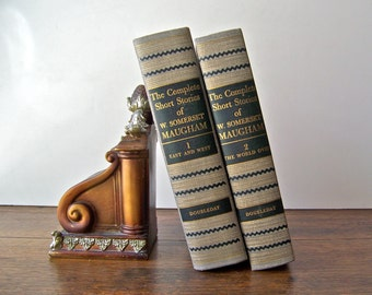 Vintage Books W Somerset Maugham Two Volume Set 1952 Home Library British Playwright Novelist