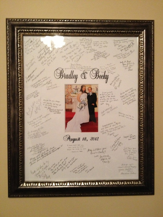 Wedding Guest Book Alternative Signature Picture Frame
