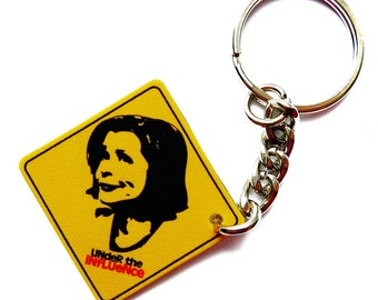 Under the Influence Keychain -  Lucille Bluth - Drinking - Pun Gift - Drinking Puns - Vodka - Pendant - Key Ring - Quotes - Funny Gifts