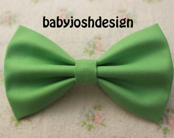Pistachio Fabric Hair bow for teens or women,girls hair bows,basic hair bows , Hair Bows