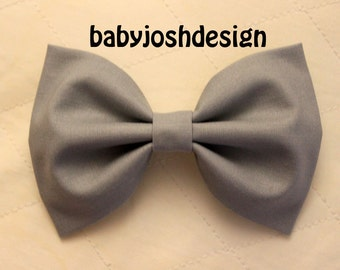 Grey Fabric Hair bow for teens or women,girls hair bows,basic hair bows , Hair Bows