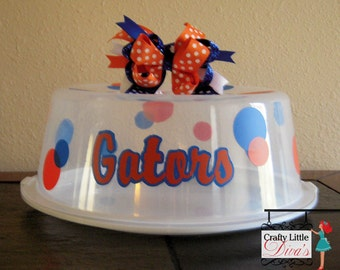 Florida Gators Cake Carrier, Personalized Cake Carrier, Florida Gators, Cake carrier, Florida Gator, Vinyl Cake Carrier, Gators, Gator gift