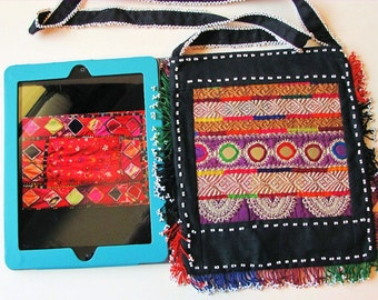 Shoulder Bag-Pashtun Hand Embroidery, IPAD Case from Afghanistan