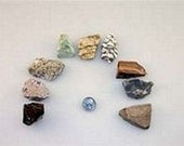 Rock Sample Kit - Includes Ingeous, Metamorphic and Sedimentary Rocks for Student & Class Room Use