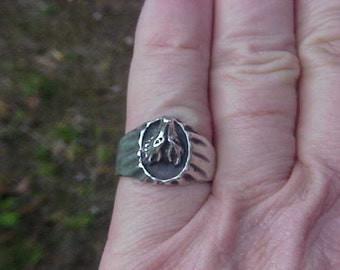 LONE WOLF Ring in sterling silver