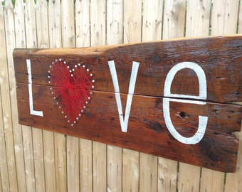 LOVE Reclaimed Wood Wall Decor