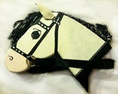 SALE - Stick Horse, Hobby Horse HEAD ONLY Cavalry Inspired Stallion