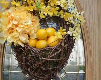 Floral Basket   Forsythia Wreath   Lemon Wreath    Hydrangea Basket   Easter Basket  Spring and Summer Decor