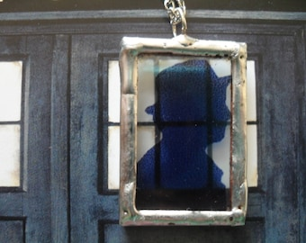 The Seventh Doctor Silhouette Necklace