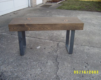 Bench Furniture, Wooden Bench, Coffee Table, Industrial Wood And Steel, Dining Bench,  Metal Legs, Entry Bench, Hallway Bench, TV Stand