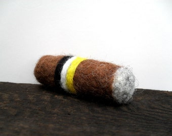 Catnip Cat toy cigar needle felted (Made in the USA)
