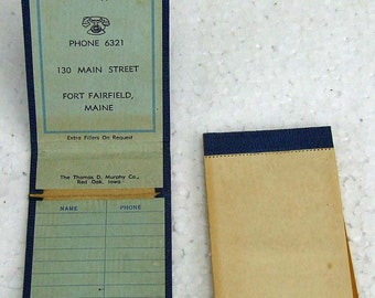 Vintage 1940s Paper Ephemera Advertising Note Pad Notepad Maine Farm Reed and Knight Farm Supplies