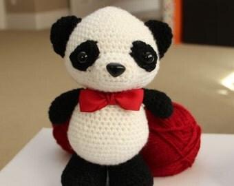 Amigurumi Crochet Pattern - Dumpling the baby panda