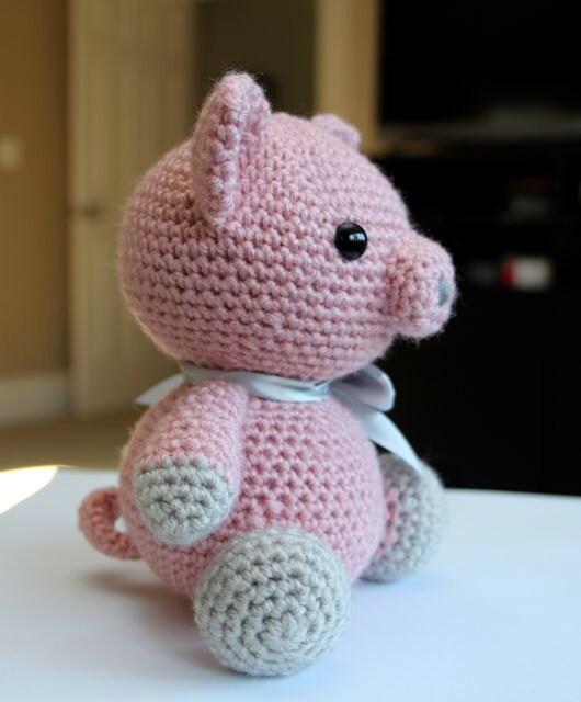 Amigurumi To Go Crochet Along Pig : Amigurumi Crochet Pattern Hamlet the Pig by littlemuggles ...