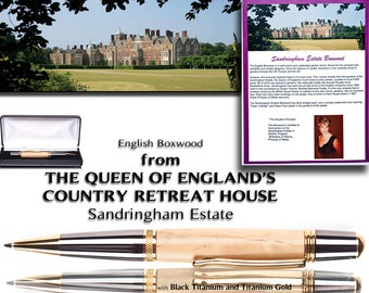 Rare Ballpoint Pen wood from the Queen of England's Royal Sandringham Estate