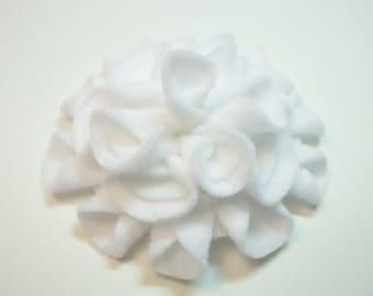 Add a Felt Flower to any Sleep Mask - White