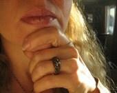 Matte Tiger-Eye Herringbone Ring  /  Serenity
