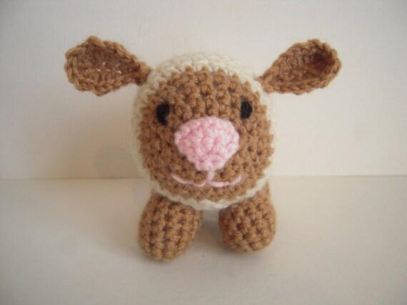 Crocheted Stuffed Amigurumi Lamb