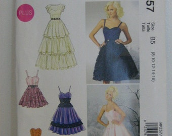 Bridesmaid or Party Dress Pattern, Mc Call's MP257, SZ 8 through 16