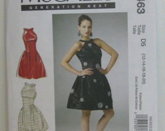 Plus Size Bridesmaid , Party or Summer Dress Pattern, Mc Call's 6463, SZ 12 through 20