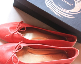 Vintage Shoes - Genuine Leather Comfort from BRUNO PREMI - Cool Design - Ballet shoe style - Size - us Women 8.5 /// eu 39