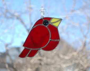 Stained Glass Redbird
