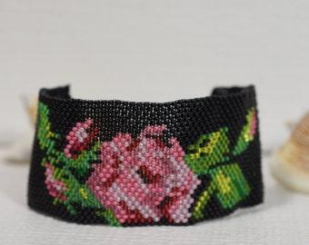 Beadwork Bracelet Beadweaving Bracelet Peyote Stitch Jewelry