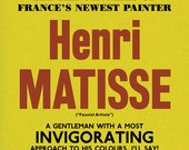 Matisse Poster Print: Modern Art, 20th Century, Exhibition Announcement Poster