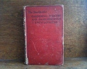 Vintage English Gardening Poultry and Smallholdings Encyclopaedia Book with illustrations / English Shop