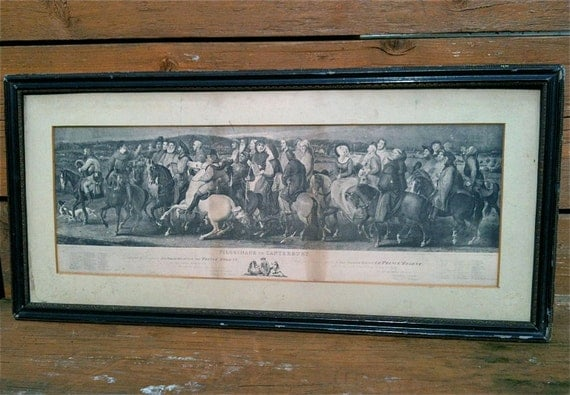 Reservation Deposit - Antique Pilgrimage Print / Pilgrimage to Canterbury / Large Frame / English Shop