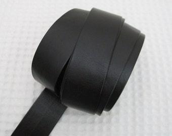 2 Yards Faux Black Leather Trims 1 inch