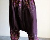 5 colors Lightweight  cotton free size, fisherman trousers,Harem Pant - Cotton Boho Gypsy Genie Alabama Aladdin Baggy Trouser Pant