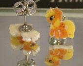 Applejack My Little Pony Friendship is Magic Cartoon Stud Earrings - surgical steel