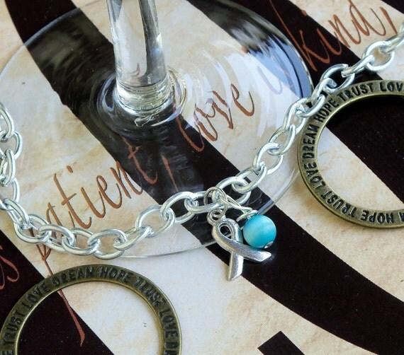 Ovarian Cancer, Anti-Bullying, Cervical Cancer Awareness Bracelet