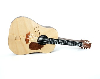 Acoustic Guitar Puzzle - Guitar Room Decor - Classical Guitar Toy