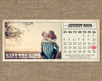 printable vintage save the date calendar