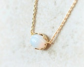 Moonstone Necklace / choose your color / gold and silver